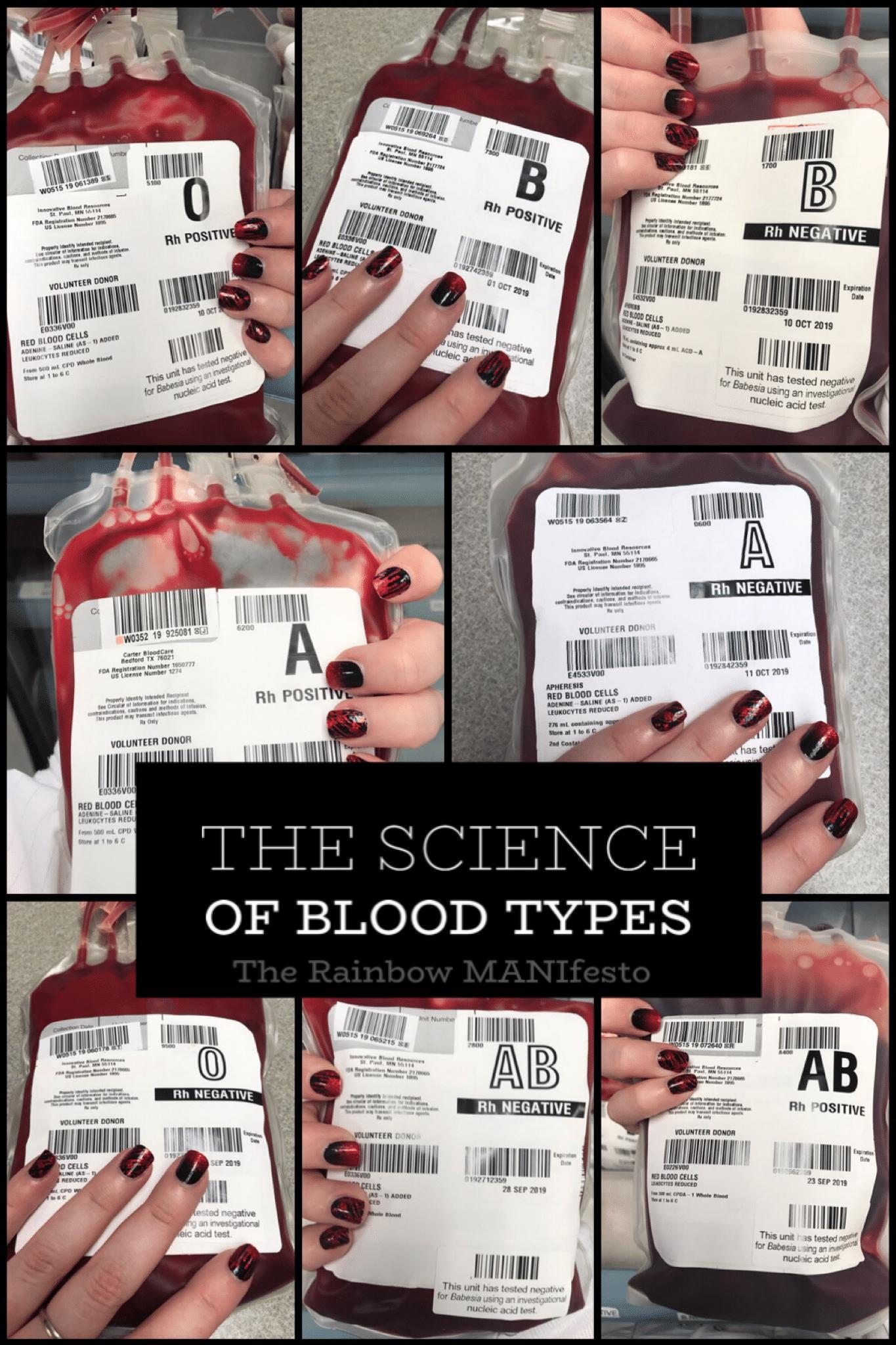 blood type matching nails