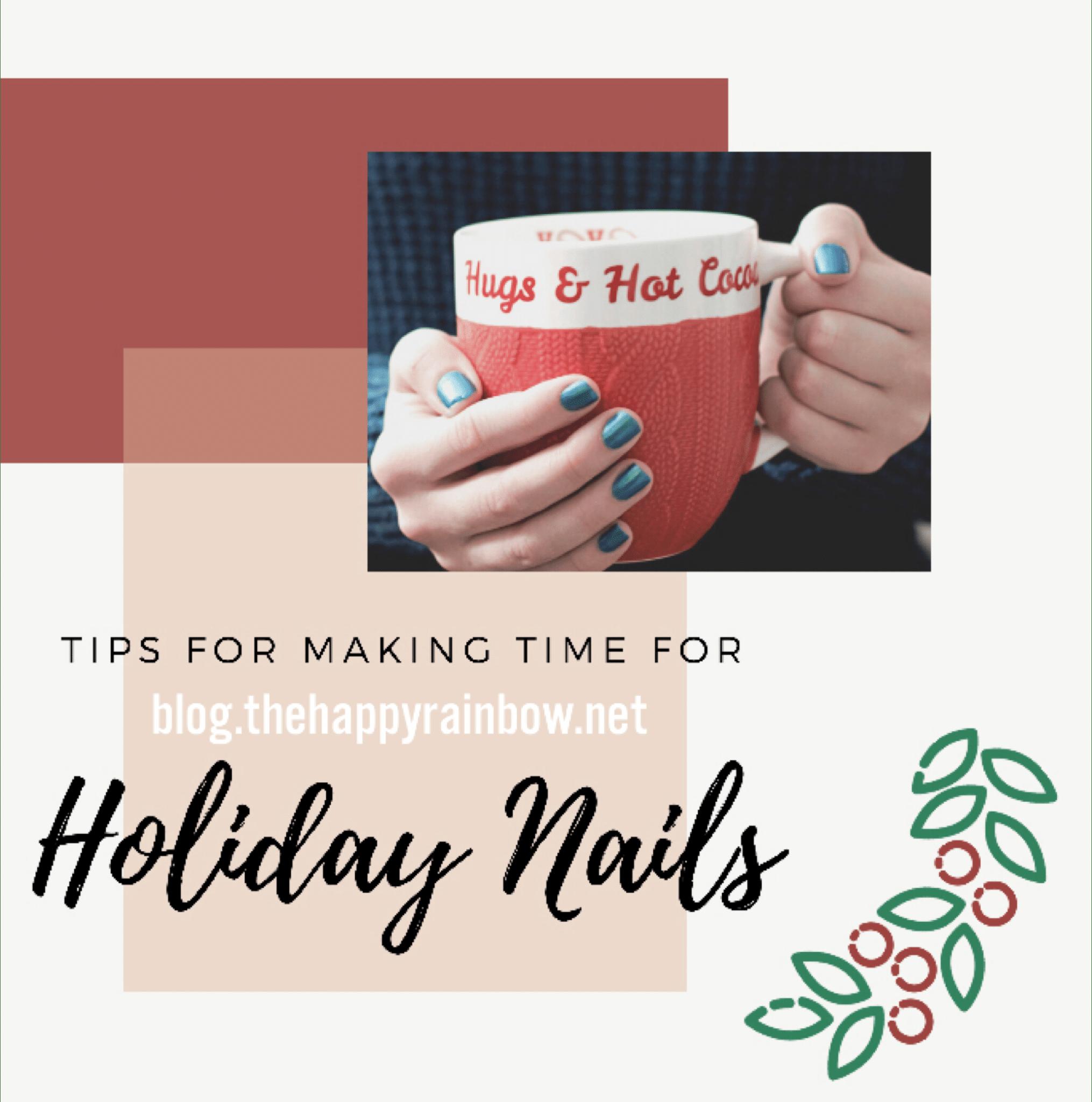 Photo of holiday nails.