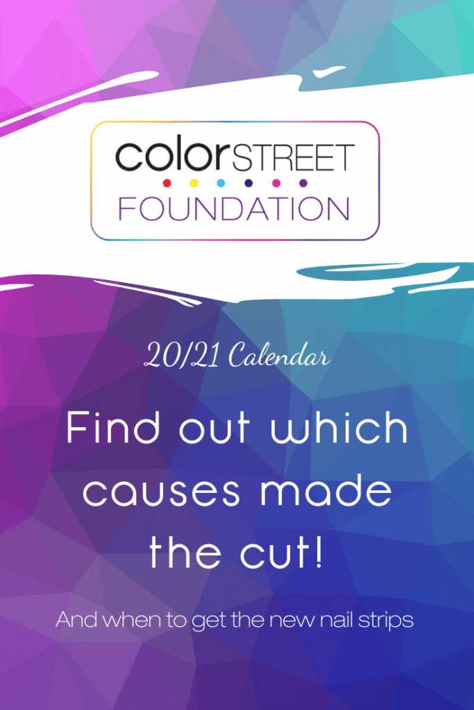 Intro to Color Street Foundation calendar for 20/21 year