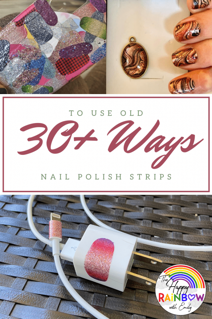 Intro graphic for how to use old nail polish strips
