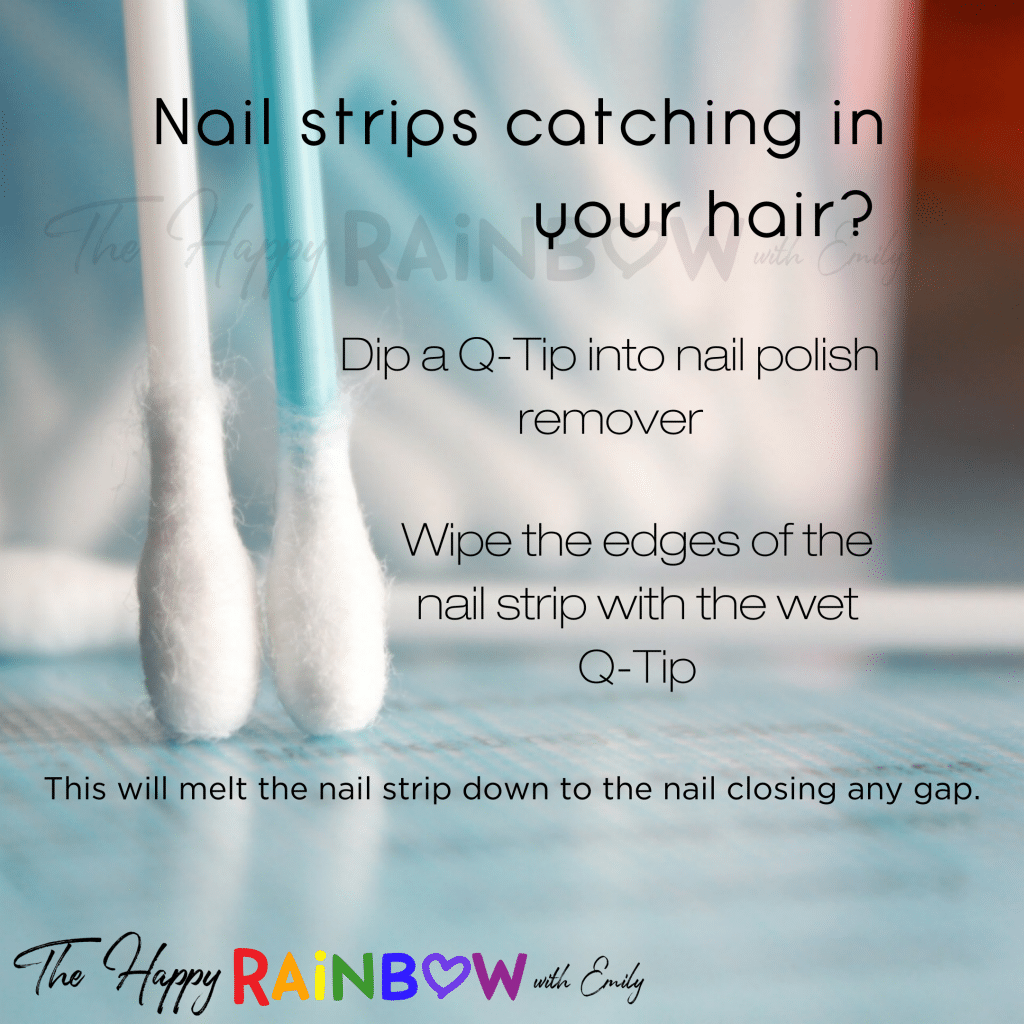 Tip to fix the problem of hair catching under Color Street nail polish strips