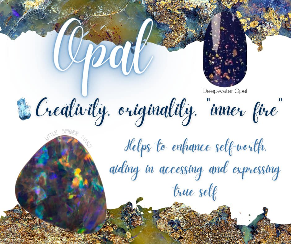 Set in Stone with Color Street showing Deepwater Opal