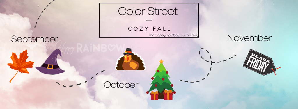 Color Street release date themes for September, October, and November