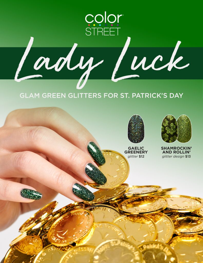 Color Street St. Patrick's Day collection 2021 flyer