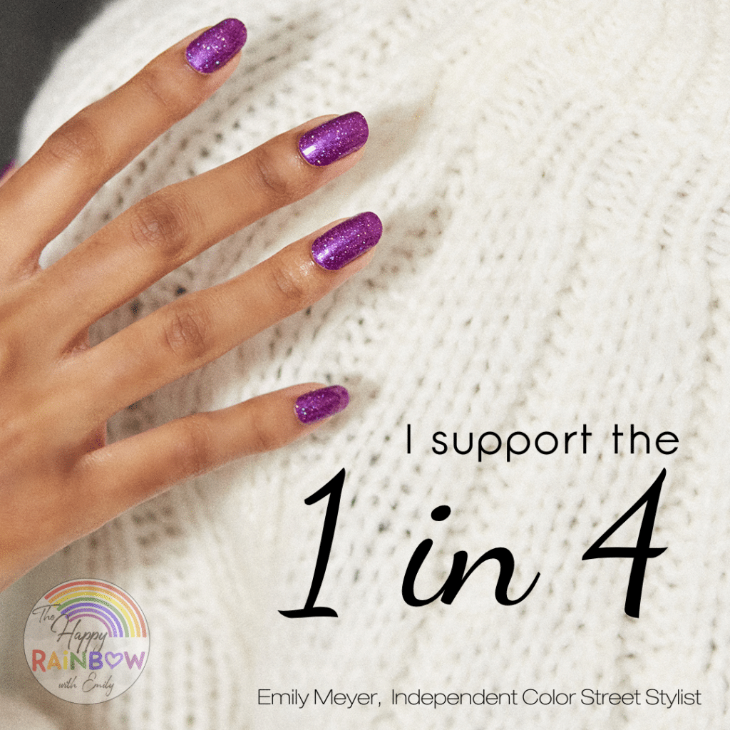 Color Street Foundation domestic violence awareness nail polish strip that supports the 1 in 4