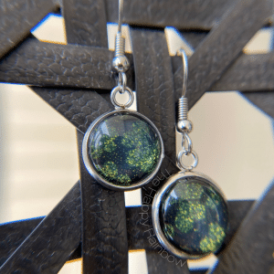 Earrings made from dried out Color Street strips